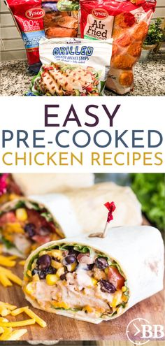 Dinner time made easy is every mom's dream! Try these 12 chicken recipes using frozen pre-cooked chicken so you can de-stress and get dinner done fast! Frozen Chicken Patty Recipe, Grilling Frozen Chicken, Chicken Patty Recipes, Frozen Chicken Recipes, Chicken Nugget Recipes, Chicken Breast Strips Recipes, Recipes Using Cooked Chicken, Grilled Chicken Breast Recipes, Pre Cooked Chicken