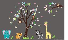 """Baby Nursery Kids Children's Wall Decals: Safari Jungle Animals Wildlife Themed 88"""" tall X 132"""" wide (Inches): Repositionable Removable Reusable Wall Art: Better than vinyl wall decals: Superior Material Nursery Wall Decals http://www.amazon.com/dp/B00VCP38JC/ref=cm_sw_r_pi_dp_fK-Uvb0D6MRHE"""