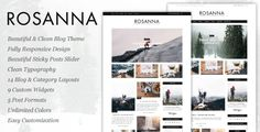 Rosanna - A Responsive WordPress Blog Theme