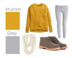 Grey & Mustard