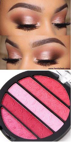 Family Deals Make up Summer Rosy Eyes Multi-tone Pink color eye shadow palette Eye Makeup Art, Natural Eye Makeup, Pink Makeup, Eye Makeup Tips, Cute Makeup, Beauty Makeup, Makeup Looks, Makeup Ideas, Makeup Tutorials