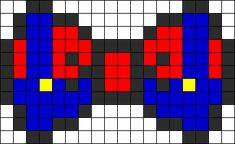 Mario Bow Perler Bead Pattern | Bead Sprites | Characters Fuse Bead Patterns