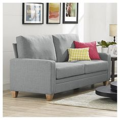 Everett Sofa Dove Gray Grey Living Room Designs Decor