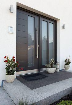 Bravur 400 - entrance: front door of fingerhaus gmbh - construction . - Bravur 400 â . Modern Entrance Door, Modern Exterior Doors, Modern Front Door, House Front Door, House Doors, House Entrance, Front Door Entrance, Modern Entry, Front Entrances