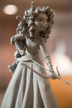 iheartslb:    Clay model of Princess Merida by Kevin.Davis.Photography on Flickr.    once i get to coventry on my illustration and animation course i will be trying my hand at maquette making AAH I'M JUST so excited for this new course :D