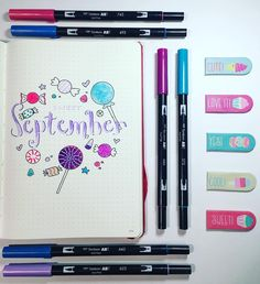 A sweet September monthly cover page for your bullet journal! Cute, fun, and filled with adorable doodles to really make your page pop. Easy to make! Great way to make your organization pretty!