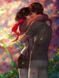 Eren x Mikasa ♡ Eremika | Shingeki no Kyojin (Attack on Titan) #SnK