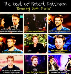 The Best of Robert Pattinson: Breaking Dawn Promo #1