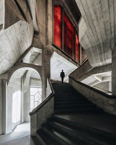 "just-good-design: ""Goetheanum. World center of the anthroposophical movement in Dornach, Switzerland. Design by Rudolf Steiner, built Photo Lost in the concrete jungle is. Visit Switzerland, Photo Grid, Rudolf Steiner, Concrete Jungle, Brutalist, Wonderful Images, Art And Architecture, Decoration, Design Art"