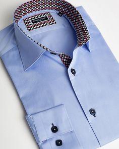 Franck Michel® Shirts - Designer French Shirts from Paris Plain Shirts, Cool Shirts, Fashion Now, Mens Fashion, Trendy Fashion, Formal Shirts, Casual Shirts, Dress Shirt And Tie, Dress Shirts