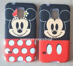 New cute minnie Cartoon front back cover case skin for Samsung Galaxy S5 V i9600 #Romrichcaseshop