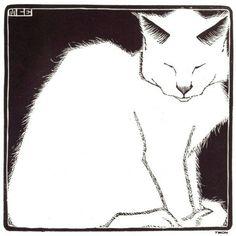 M.C. Escher, White Cat I, 1919, Surrealism