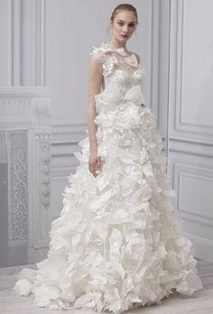 5 tendencias de los Vestidos de novia Monique Lhuillier 2013
