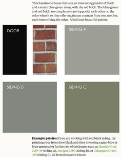 if you are working with red brick siding try painting your front door black and