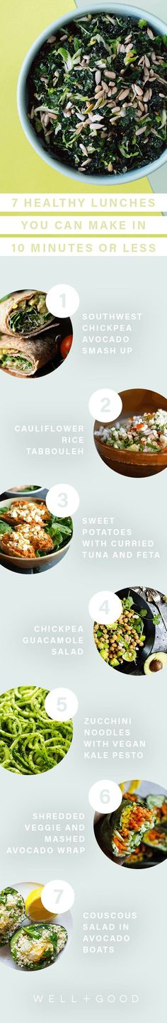 Easy to make lunch recipes in 10 minutes or less