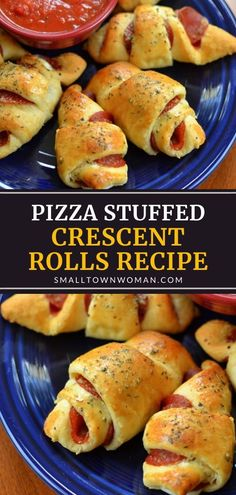 Pepperoni Crescent Rolls, Crescent Roll Appetizers, Crescent Roll Pizza, Pizza Appetizers, Crescent Recipes, Yummy Appetizers, Appetizer Recipes, Easy Pepperoni Rolls, Pizza Recipes Using Crescent Rolls