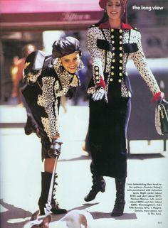 US Vogue July 1992 Susan Holmes, Nadege du Bospertus & Claudia Schiffer by Arthur Elgort and Carlyne Cerf de Dudzeele