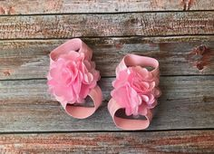 Pink Barefoot Sandals/Baby Barefoot Sandals/Barefoot Sandals/Baby Shoes/Newborn Sandals/Newborn Shoes/Baby Girl Shoes/Baby Girl Sandals/Baby by JuliaGraceDesigns1 on Etsy