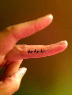 Ho Ho Ho Temporary Tattoo Christmas / Fake Tattoos / by Junylie