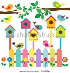 Collection of cartoon birds Clipart Decoration Creche, Class Decoration, School Decorations, Preschool Crafts, Diy And Crafts, Crafts For Kids, Paper Crafts, Diy Y Manualidades, Cartoon Birds