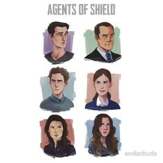 Agents of SHIELD Portraits by andlatitude