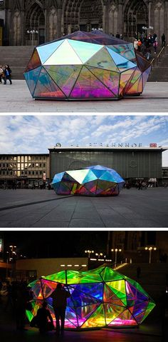 Cityscope - Urban Kaleidoscope by German architect Marco Hemmerling. It is a lighting installation was displayed in cologne, Germany. Dealing with the perception of urban spaces the installation re...