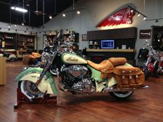 2014 Indian Chief Vintage with a 2 tone.