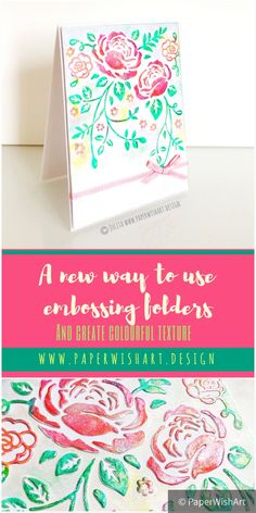 Do you want to learn how to use embossing folders effectively? Embossing is one of my favourite techniques & it is NOT as difficult as it looks! Check out the Video tutorial & find out how to use embossing folders with your Sizzix machine #sizzix #embossing #arttechniques #paperwishart