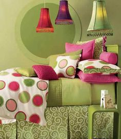 colorful for girls room or guest room