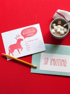Holiday Party Invitations! | Join in all the Reindeer Games Invitation Pack | Sycamore Street Press