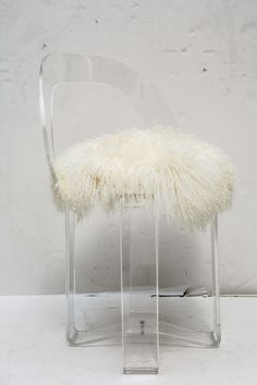For Vanity Stool Modern Victoria Acrylic Ghost Side
