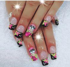 Cute Nail Art Designs, Cute Nails, Manicure, Pretty Nails, Amor, Toe Nail Art, Nail Bar, Nails, Polish
