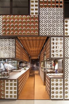 Graphic Ceramic Tiles // Disfrutar Restaurant By El Equipo Creativo // Barcelona, Spain