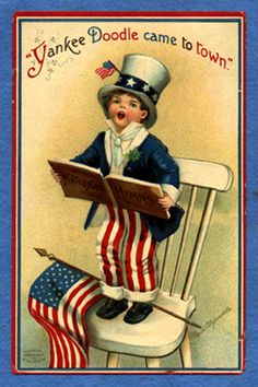 Old Fourth of July postcard. Cute.