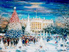 White House Christmas Card   (1992) George & Barbara Bush's selection.