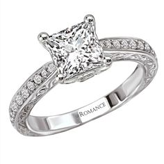 Gittelson Jewelers - Engagement Rings - Princess cut diamonds are known for being a more modern cut of diamond, but set…
