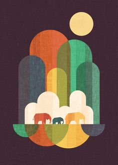 Elephant walk Art Print by Picomodi | Society6