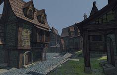 fantasy medieval city art - Google Search