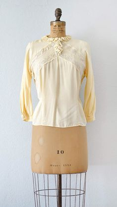vintage 1940s blouse from Adored Vintage #1940s #40sblouse