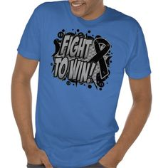 Fight To Win Against Melanoma Cancer Awareness Shirts of Defiance by by www.cancerapparelgifts.com