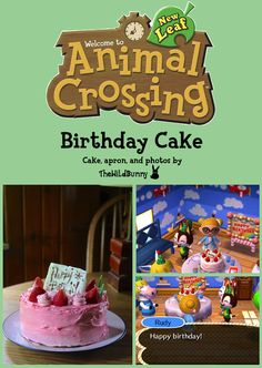 Animal Crossing New Leaf Birthday Cake