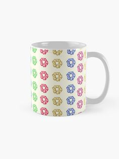 'Colorful 35 Mini Scrunchies Pack ' Mug by AElenaS Transparent Stickers, Glossier Stickers, Iphone Wallet, Sell Your Art, Scrunchies, Packing, Colorful, Ceramics, Mugs