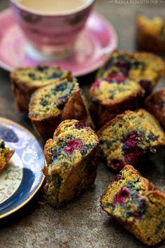 Blackberry Lemon Cake Bars - Gluten Free | MarlaMeridith.com