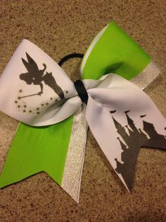 Hey, I found this really awesome Etsy listing at https://www.etsy.com/listing/187603932/tinkerbell-green-disney-cheer-bow