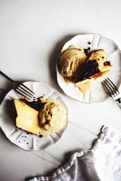 Créme Caramel Flan with Dulce de Leche Ice Cream