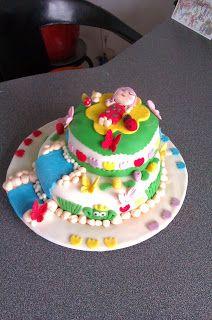 Algunas Cositas Mias... :)           : Mi segunda Tarta Fondant para el Cumpleaños de mi ...