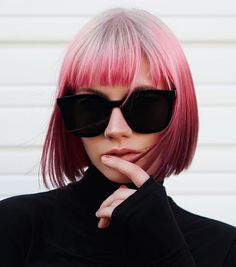 behindthechair.com (@behindthechair_com) • Instagram photos and videos Green Hair, Purple Hair, Short Styles, Long Hair Styles, Bob Haircut With Bangs, Pastel Hair, Fashion Colours, Hair Inspiration, Hair Cuts