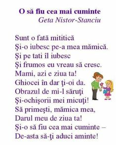 Poezii si  altele Act Practice, 8 Martie, Nursery Rhymes, Kids And Parenting, Acting, Crafts For Kids, Language, Classroom, Songs