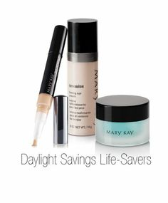 Turned your clock forward an hour? With the help of these Daylight Savings life savers, no one would guess that you lost an hour of sleep! Clocks Forward, Mary Kay Facial, Mary Kay Inc, Mary Kay Concealer, Selling Mary Kay, Mary Kay Cosmetics, Beauty Consultant, Salon Style, Life Savers