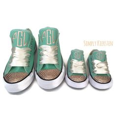c808da2971ee 14 Best Blinged out monogram Converse All Stars images